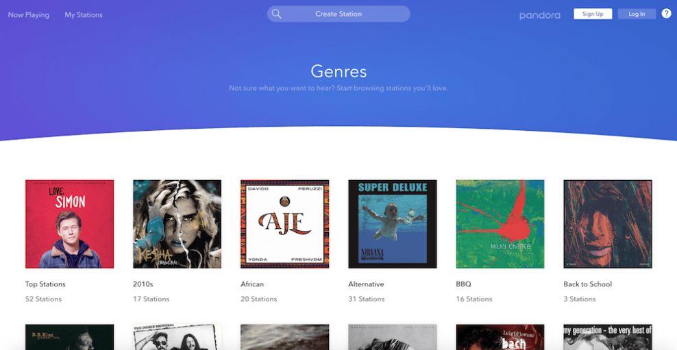 Pandora Clean Website Design