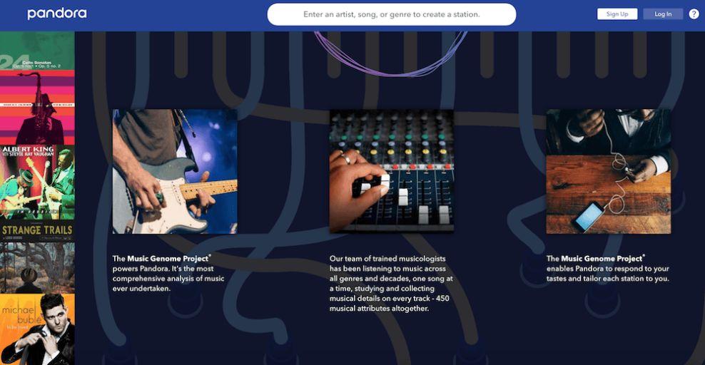 Pandora Bold Website Design