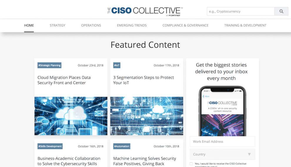 CISO Collective Top Web Design