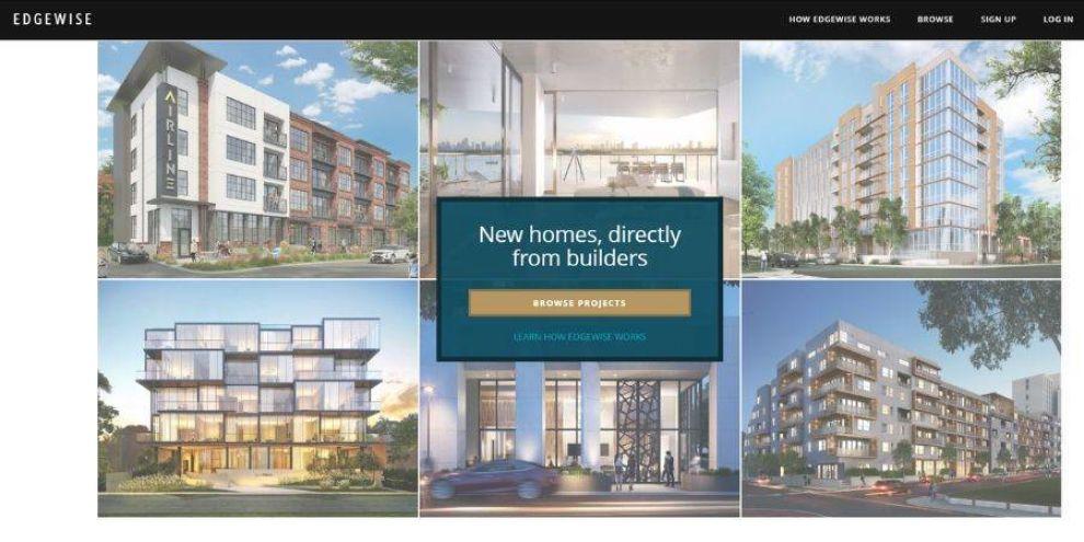real estate web design - Edgewise