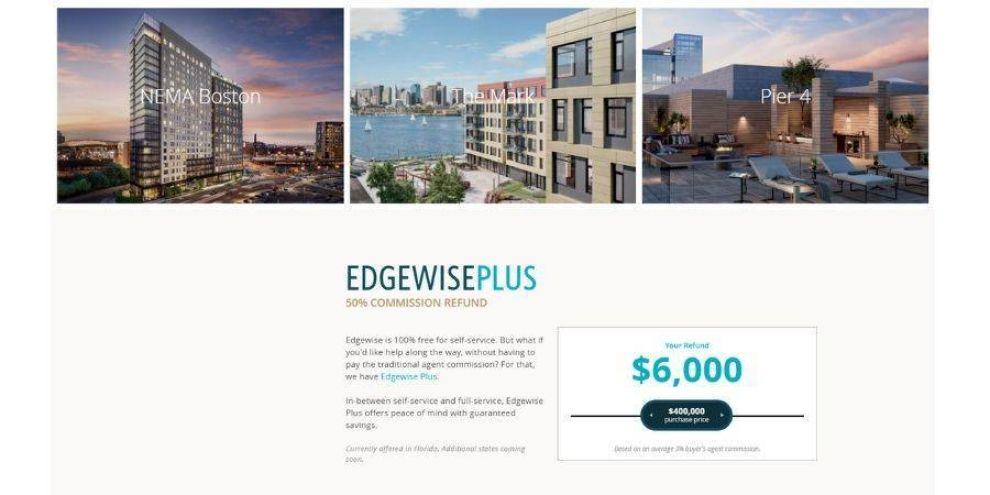 minimalist website design - Edgewise website