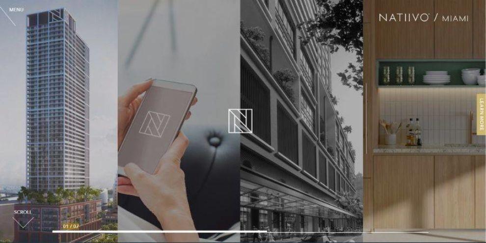 real estate website design - Natiivo