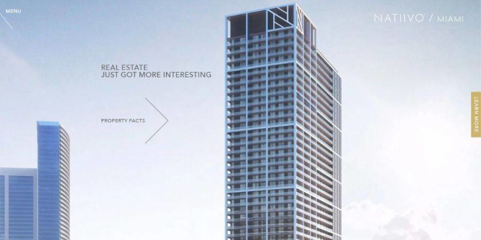 real estate web page design - motion effects