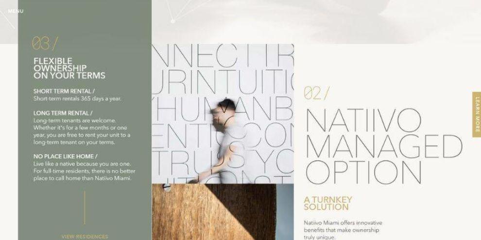 Natiivo real estate web design - contact form
