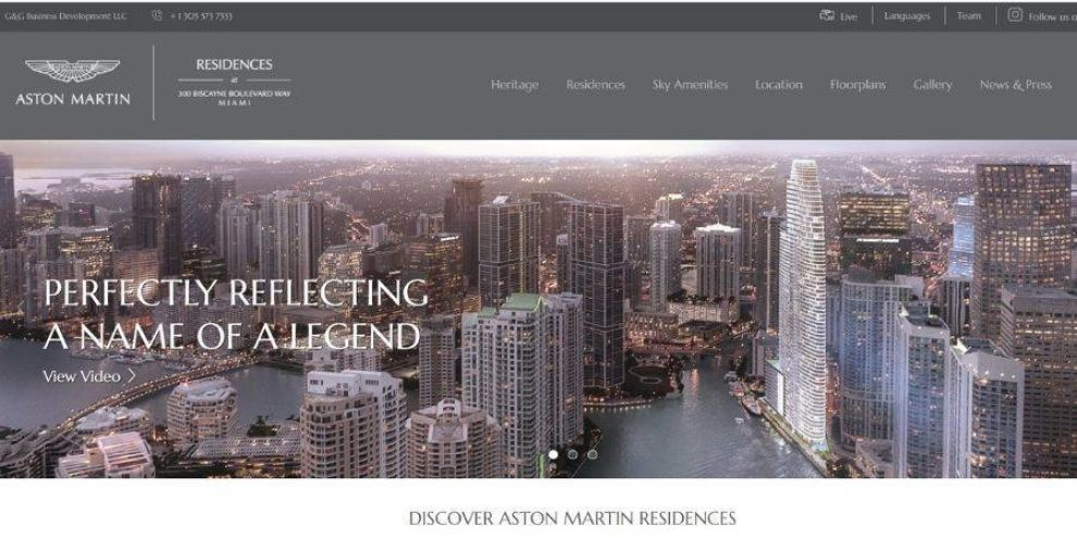 Astin Martin real estate website design