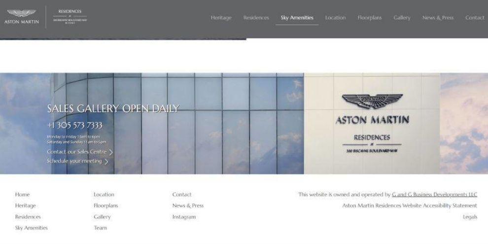 real estate website design - navigation menu