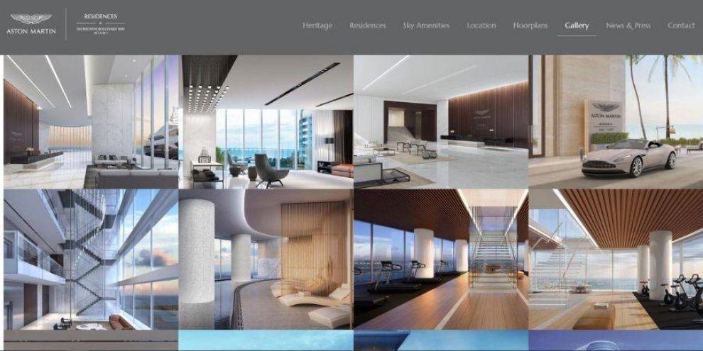 real estate web design - motion elements