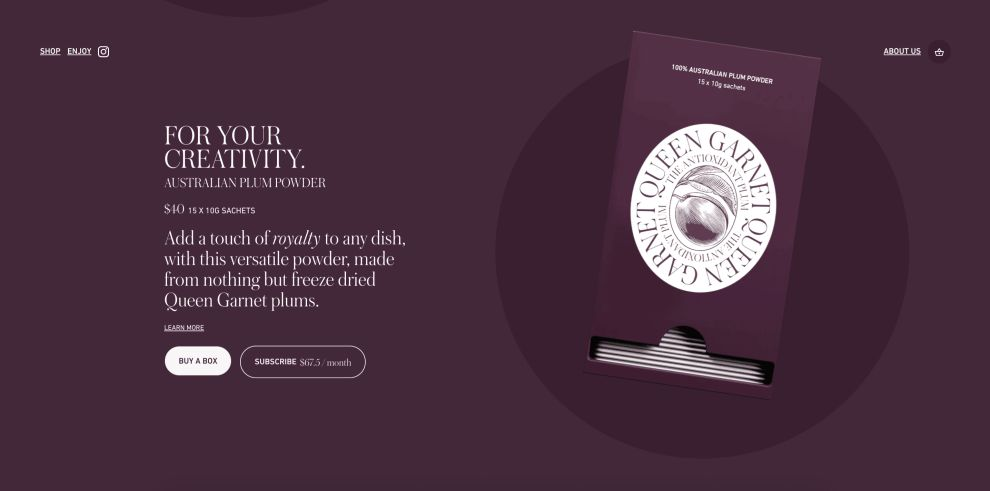 Queen Garnet's Website Uses Stunning Imagery And Sleek Typography To Create A Consistent User Journey (slide 3)