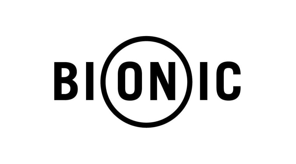 Bionic logo monochromatic on white background