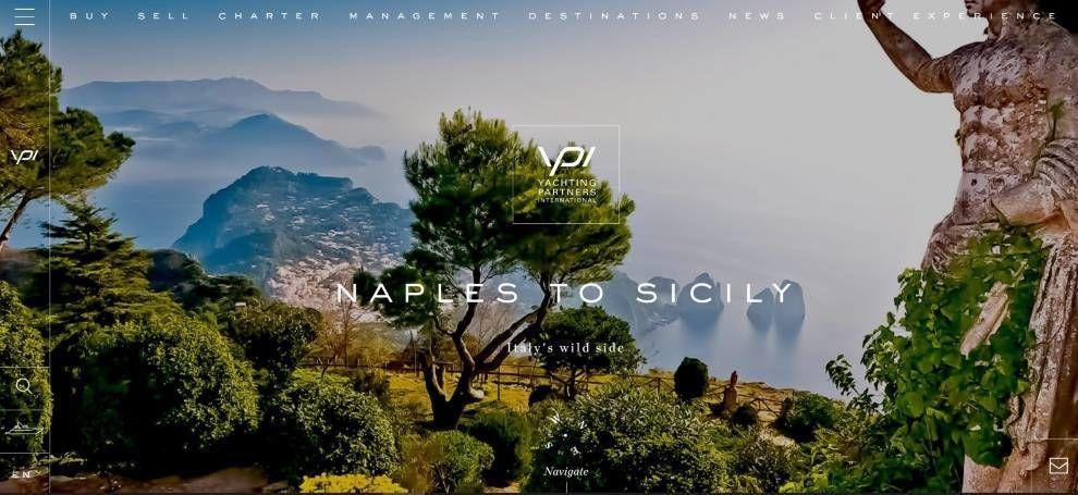 YPI website charter destination page screenshot