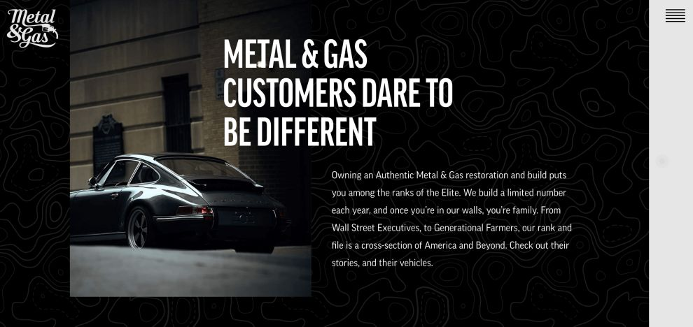 Metal And Gas' Website Engages Visitors With Top-Notch Photography And Immersive Design (slide 6)
