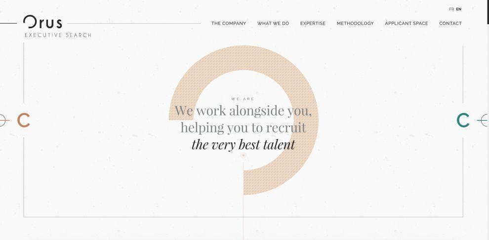 Orus Executive Website Design