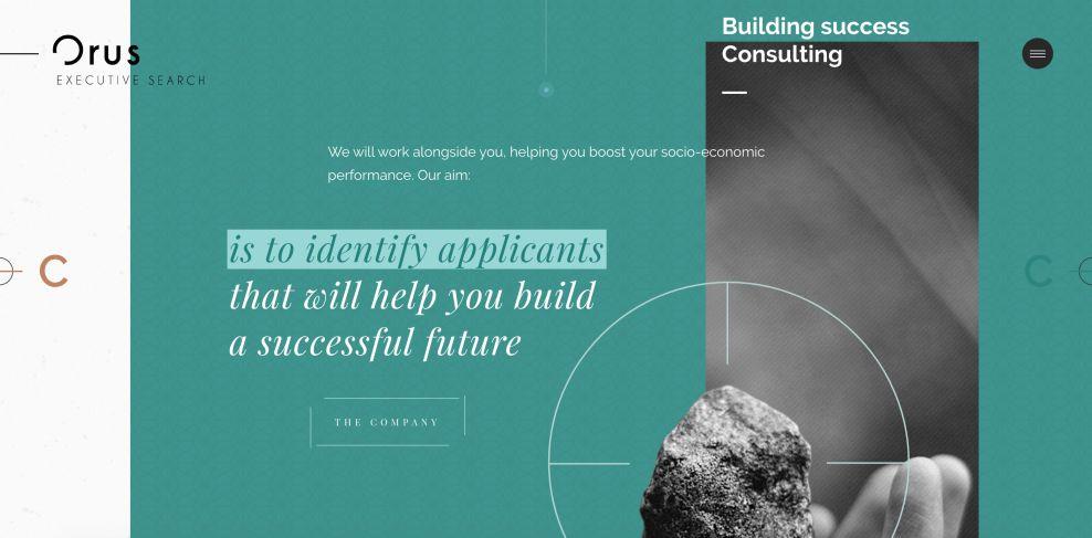 Orus Executive Web Design Screenshot