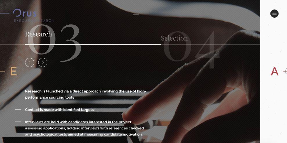Orus Executive Web Design Research