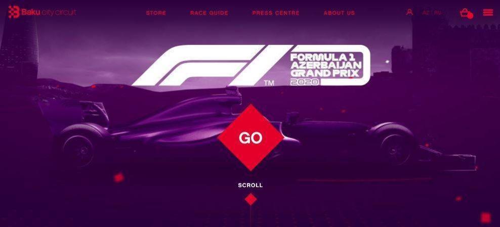 Baku City Circuite home page screenshot