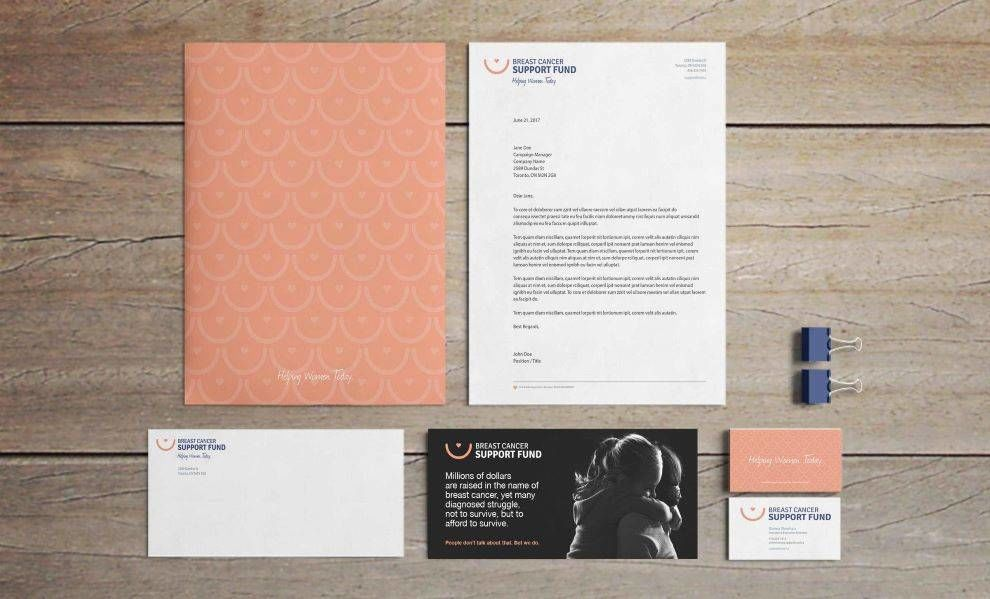 BCSF branded stationery