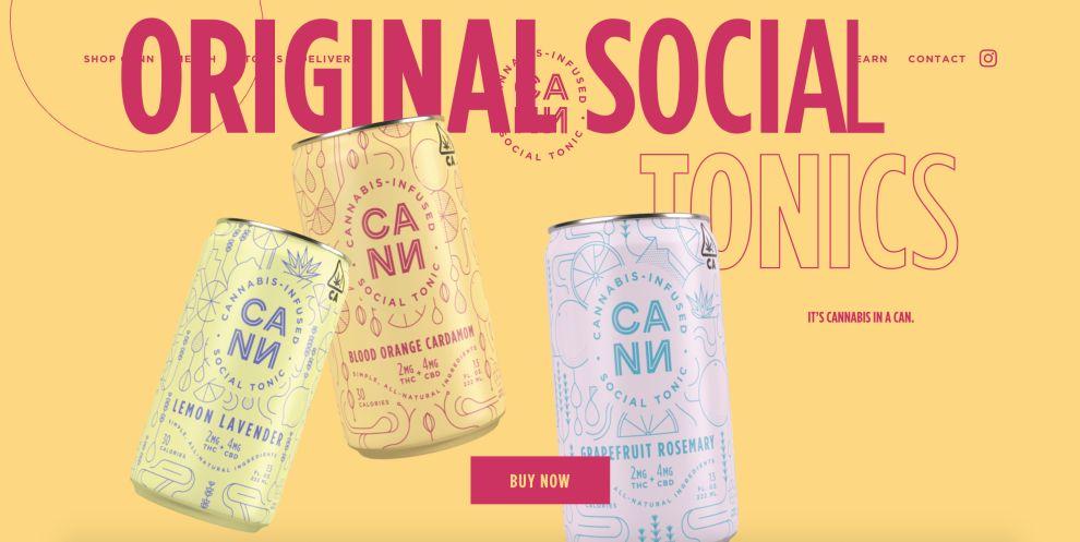 DrinkCann website design