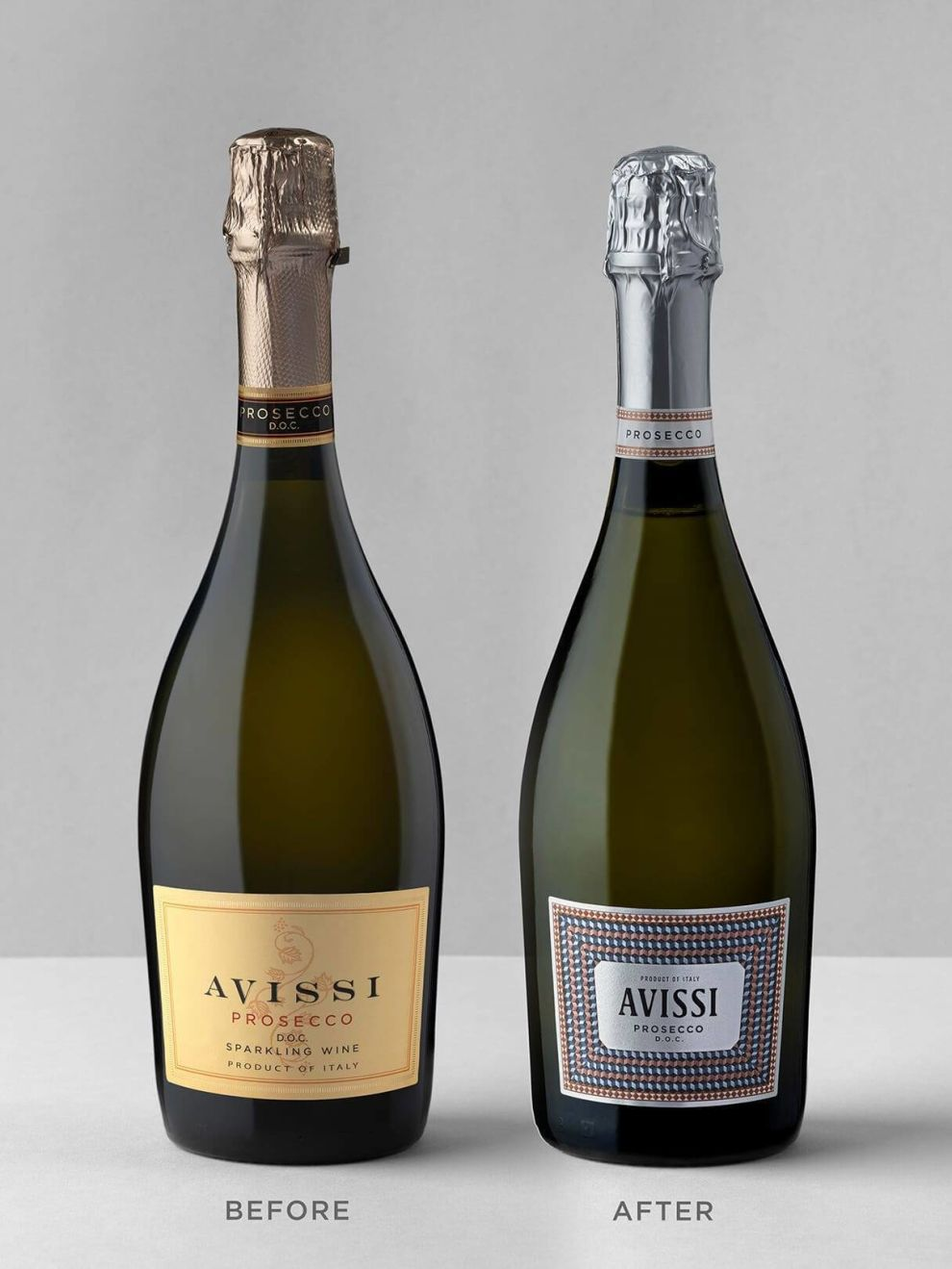Avissi Prosecco wine label design