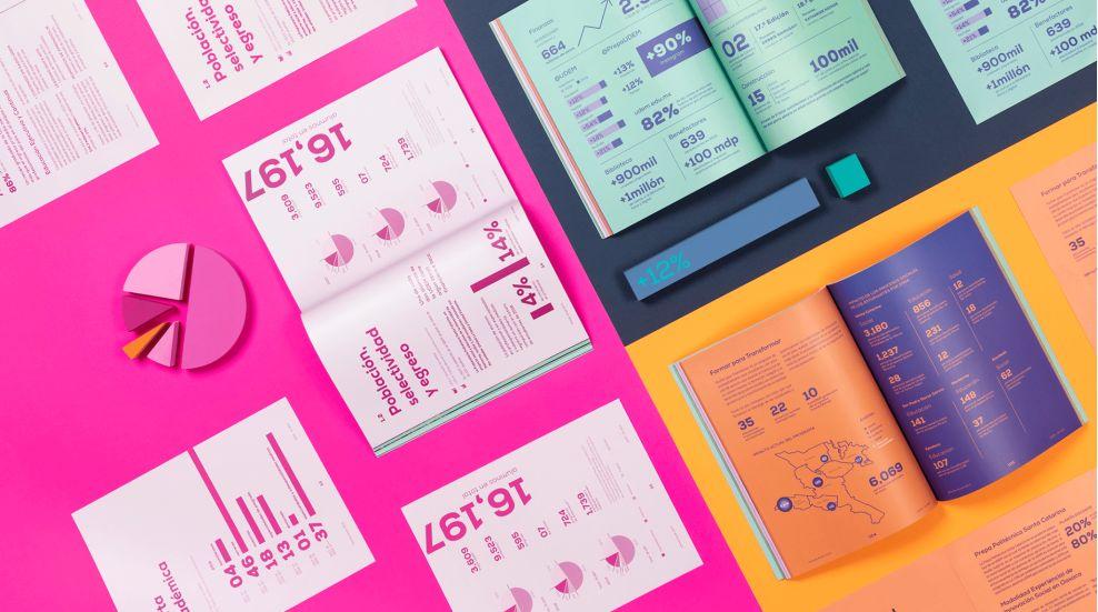 UDEM 2019 annual report print design by Reset