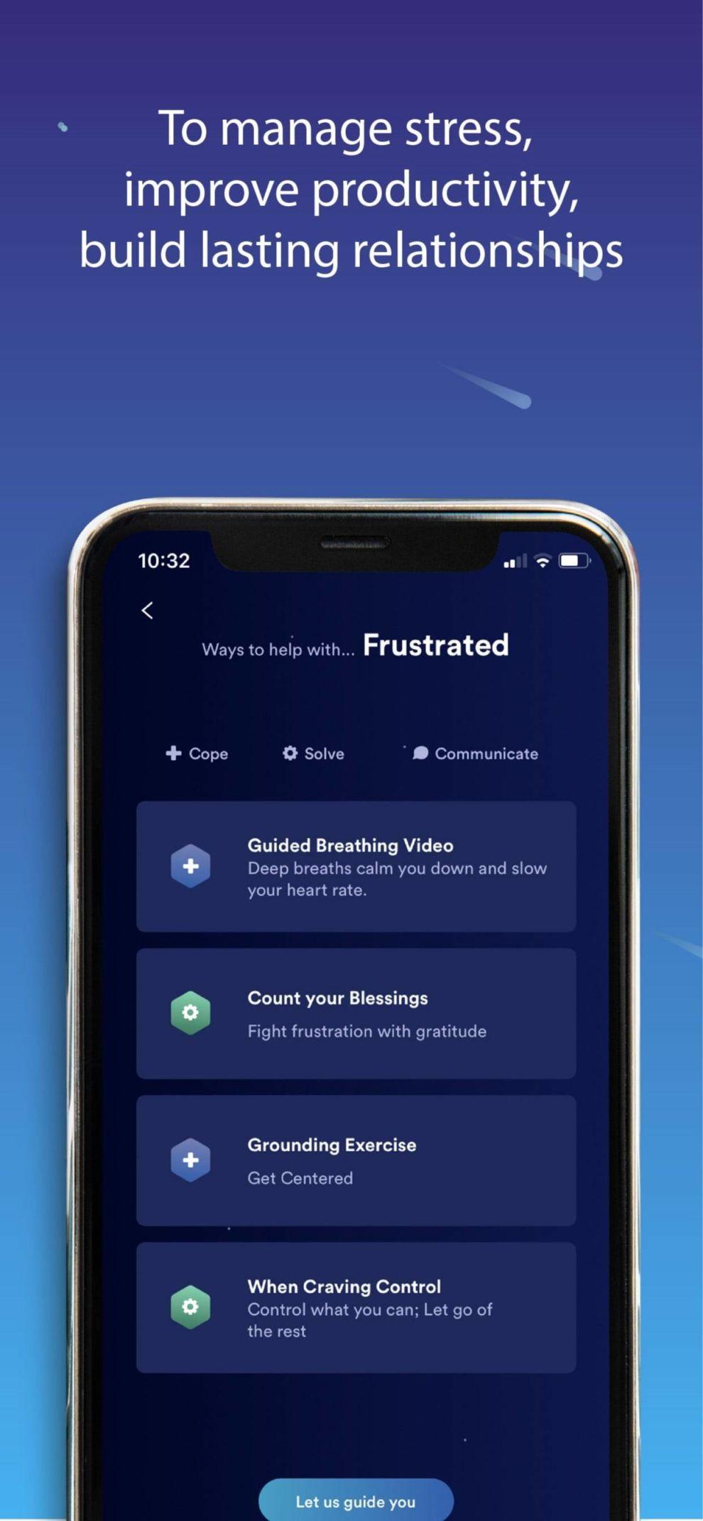 LIFE Intelligence self-help app design