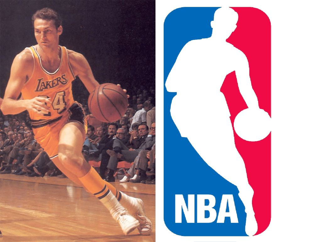 NBA logo and Jerry West