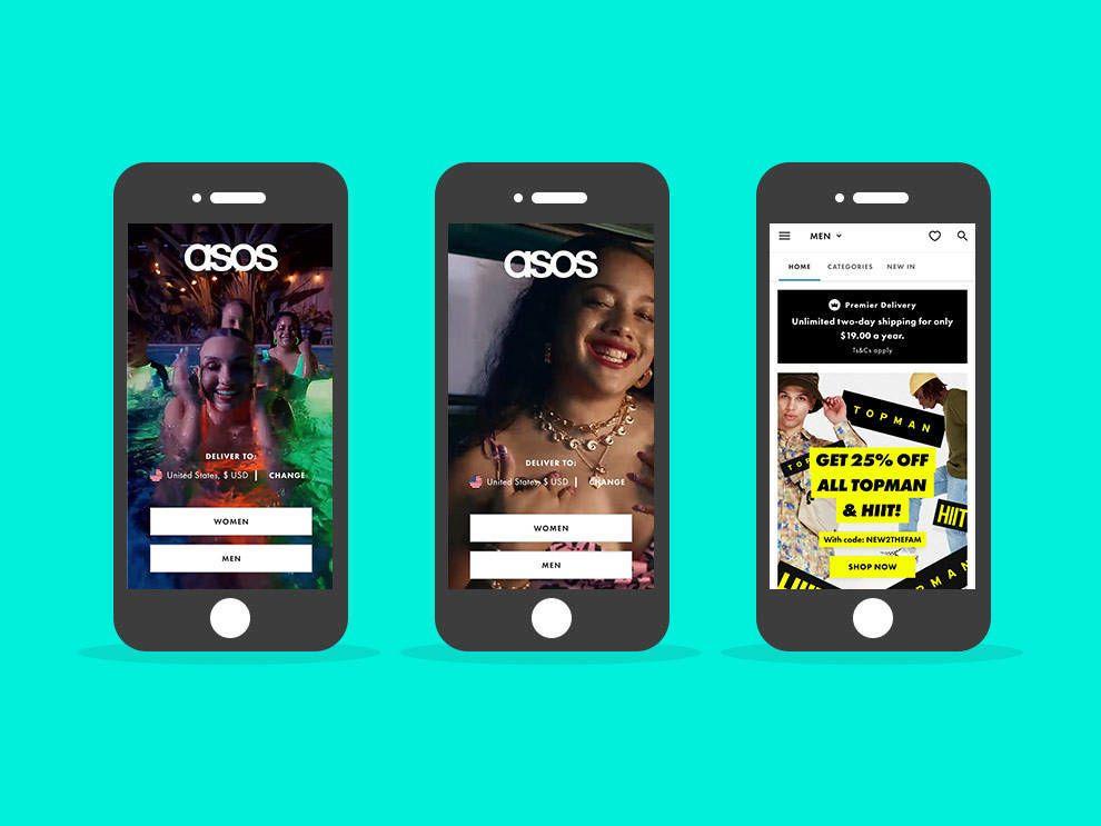 ASOS eCommerce app design overview
