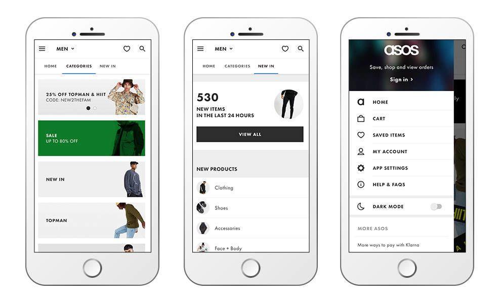 ASOS app design