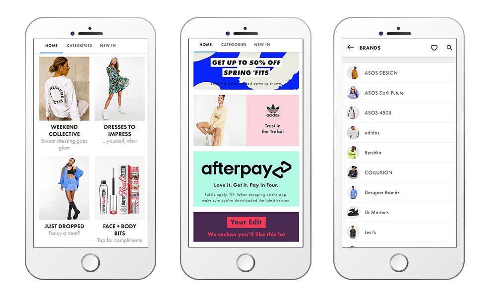 ASOS eCommerce app design