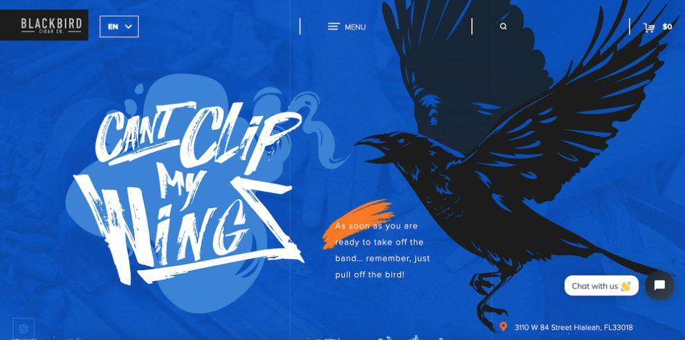 Blackbird Cigar Web Design