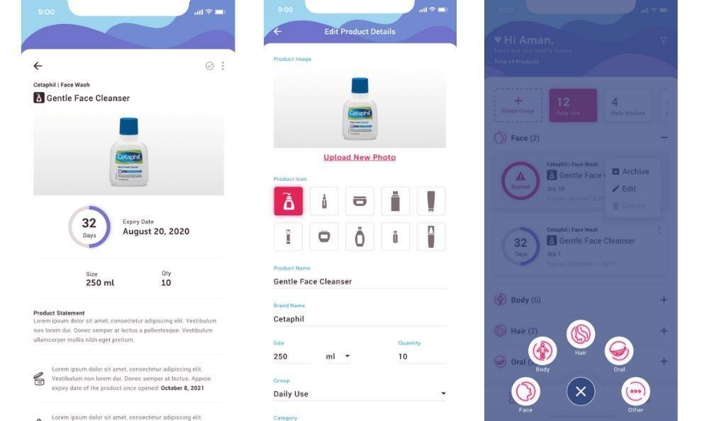 Skinify app design