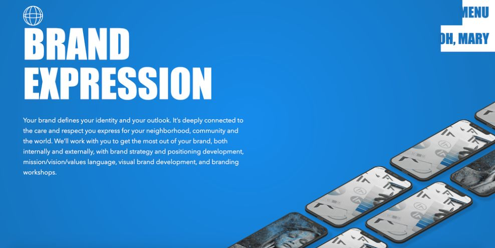 Action Mary website design