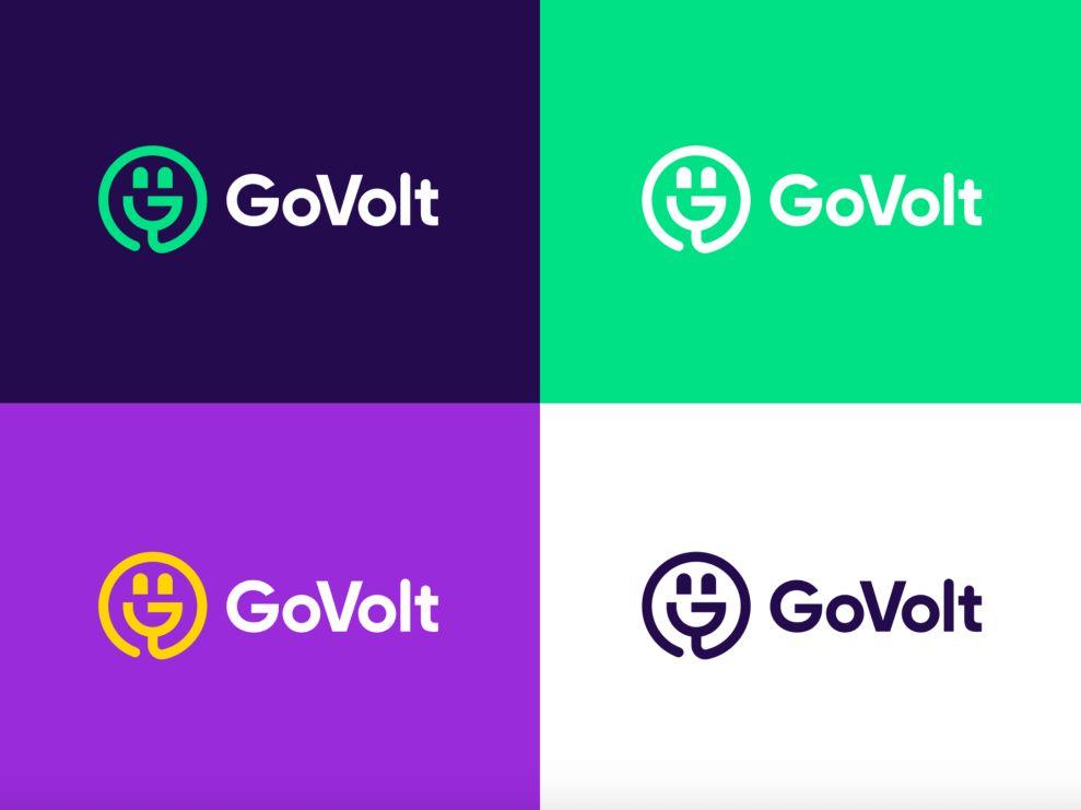Go Volt logo design in various colors