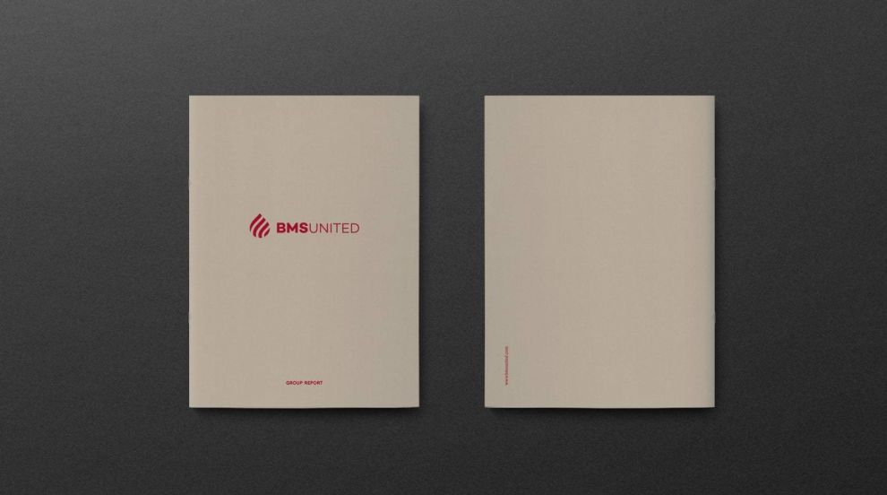 BMS United' Annual Report Front And Back Cover