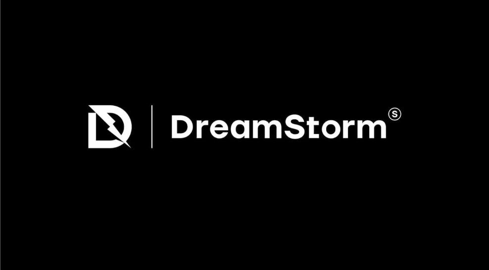 DreamStorm logo in black with typography