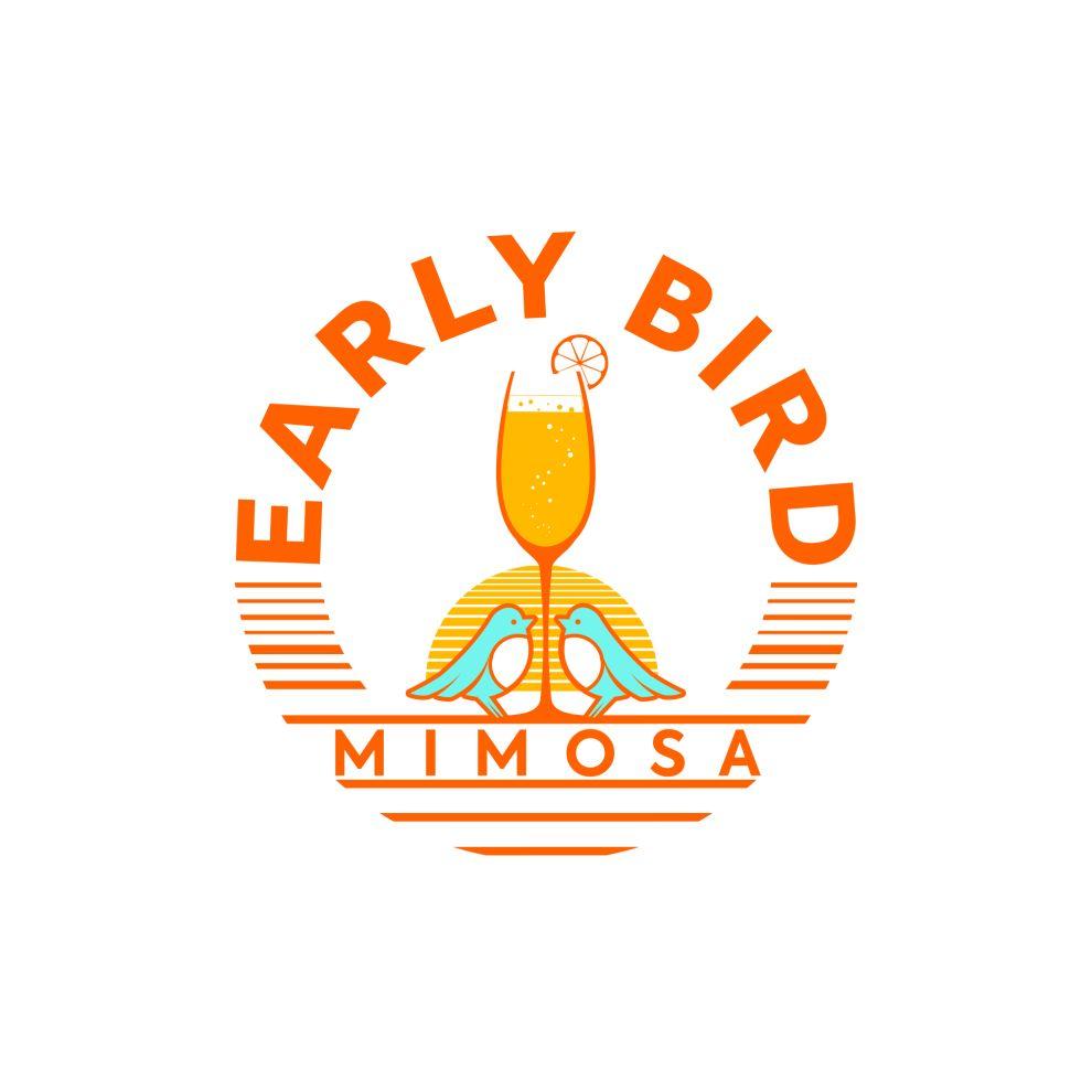 Early Bird Mimosa logo design by BrandLume