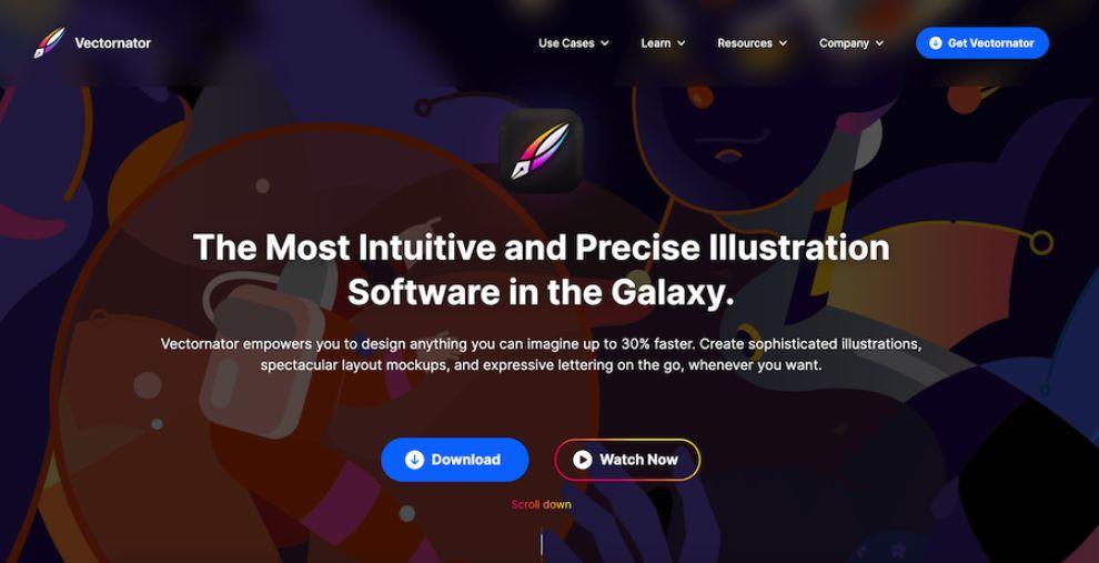 Vectornator Website Design by Lift Agency
