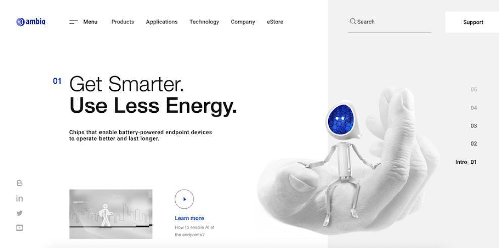 Ambiq website design by Bambuk Studio