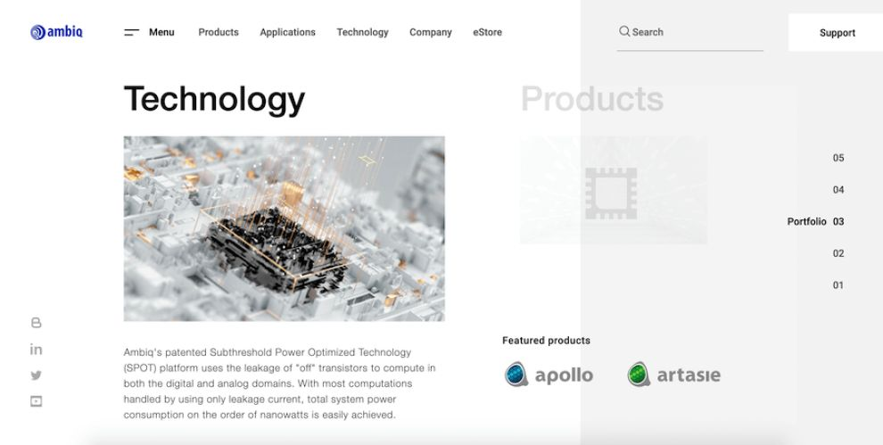 Ambiq website design