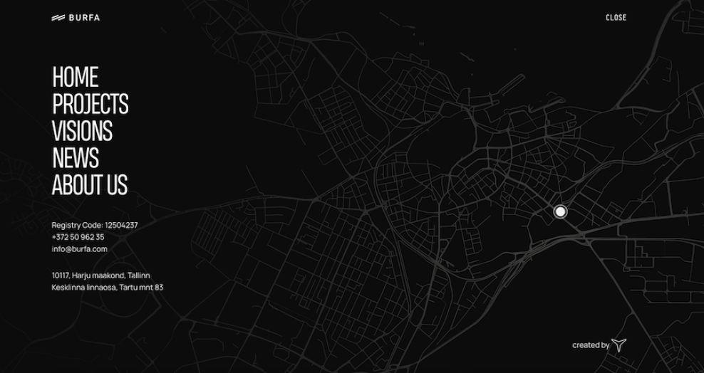 Burfa website by Zgraya Studio