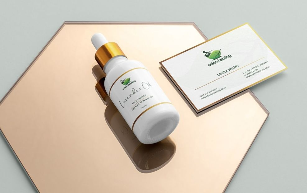 Eden Healing logo design is a union of modern and traditional.