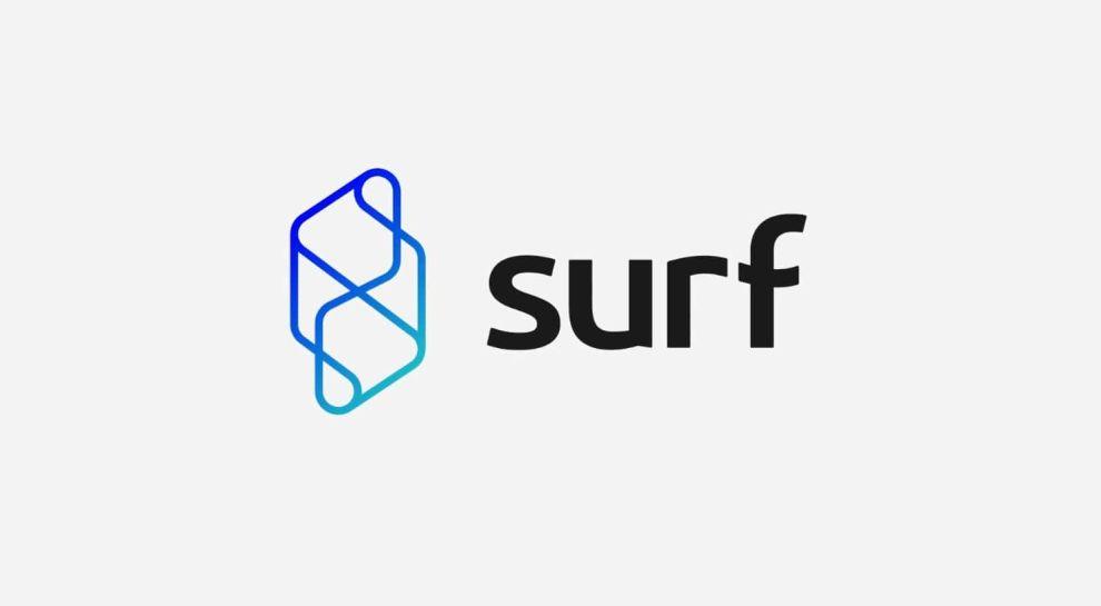 Surf logo design on new technology services