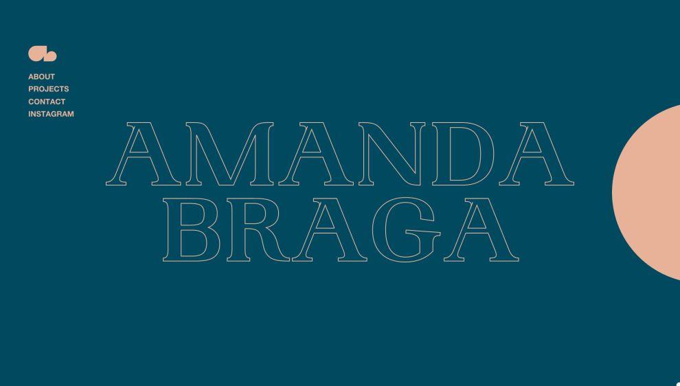 Amanda Braga website design homepage