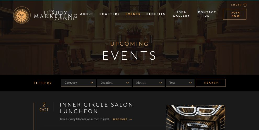 Luxury Marketing Council Elegant About Page
