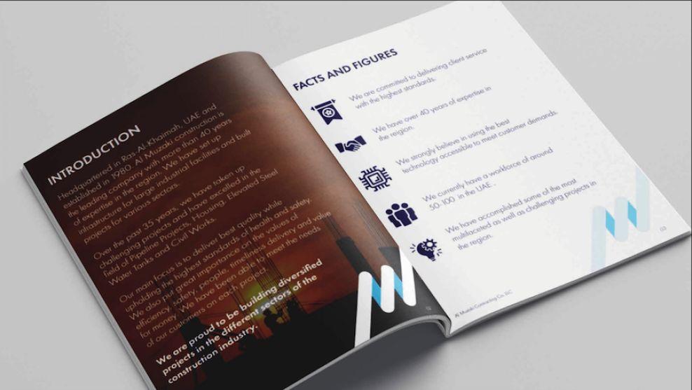 Al Muzaki print design inside pages