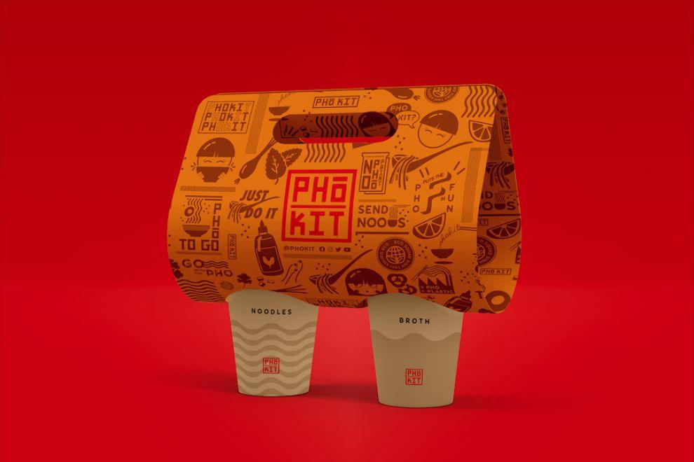 Pho Kit package design