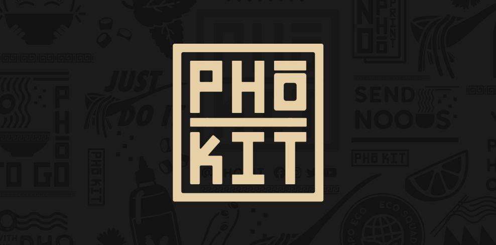 Pho Kit packaging design logo