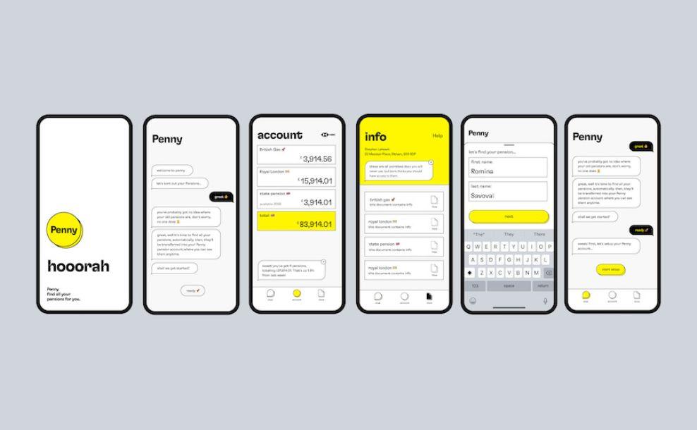 Penny app design by Skep