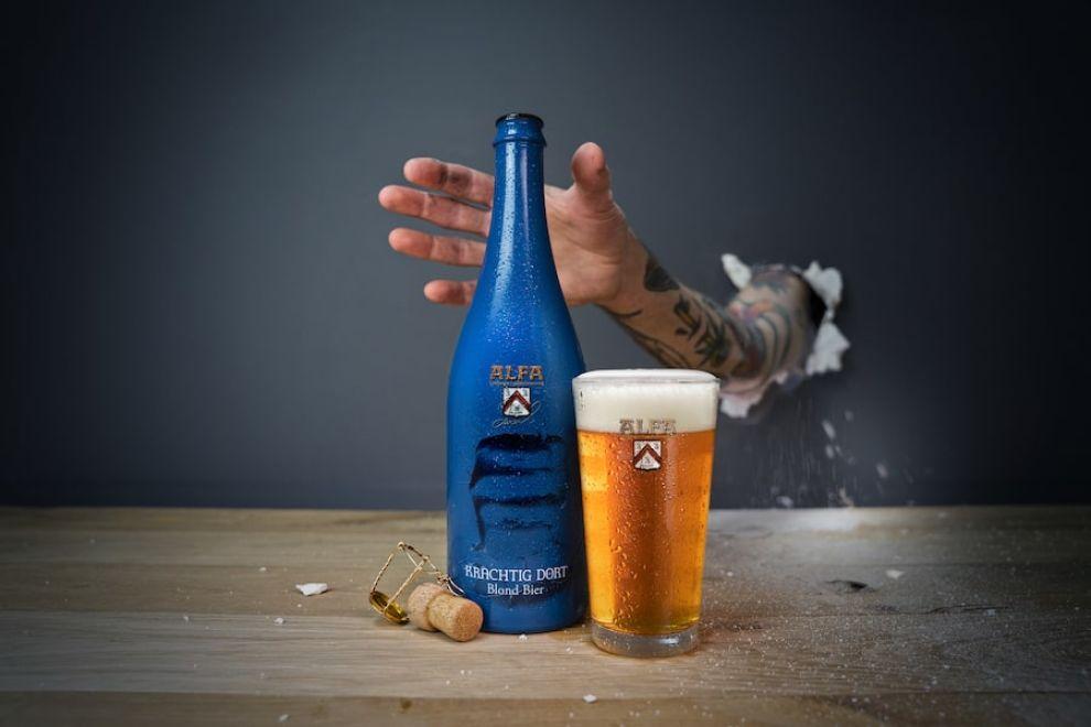 Alfa Beer packaging design