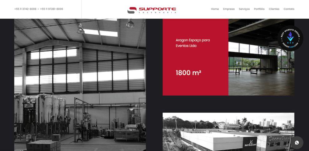Supporte website design