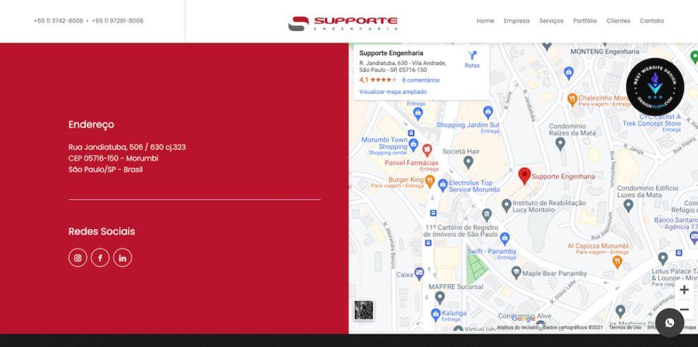 Supporte website design by IH9